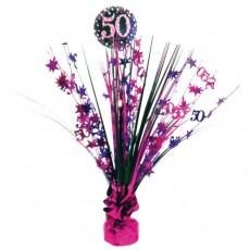 50th Birthday Pink Celebration Spray Centrepiece