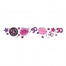 50th Birthday Pink Celebration Confetti
