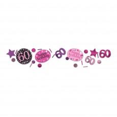 60th Birthday Pink Celebration Confetti