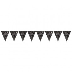 Happy Birthday Sparkling Celebration Prismatic Pennant Banner 4m x 20cm