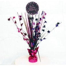 Happy Birthday Pink Celebration Spray Centrepiece 45cm