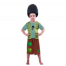 Trolls Wig & Branch Child Costume 5-7 years