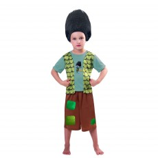 Trolls Wig & Branch Child Costume