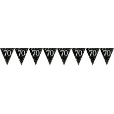 70th Birthday Sparkling Celebration Prismatic Pennant Banner