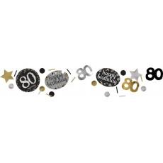 80th Birthday Sparkling Celebration i Confetti