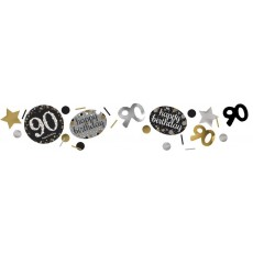 90th Birthday Sparkling Celebration Confetti