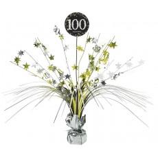100th Birthday Sparkling Celebration Spray Centrepiece