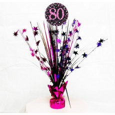 80th Birthday Pink Celebration Spray Centrepiece