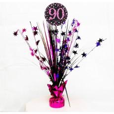 90th Birthday Pink Celebration Spray Centrepiece