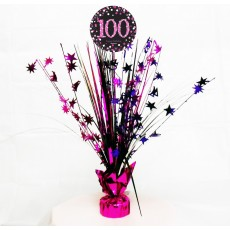 100th Birthday Pink Celebration Spray Centrepiece