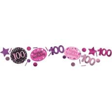 100th Birthday Pink Celebration Confetti 34g