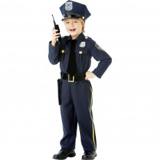 Police Officer Boy Costume - 6-8 Years