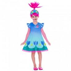 Trolls 2 Wig & Poppy Child Costume 6-8 years