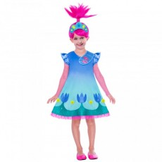 Trolls 2 Wig & Poppy Child Costume