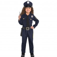 Police Officer Girl Costume - 6-8 Years