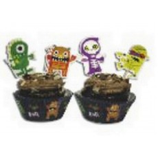 Halloween Boo Crew Monster Picks & Cupcake Cases