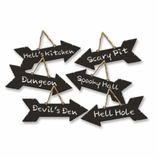 Halloween 6 Directional Signs Misc Decorations