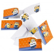 Minions Invitations Pack of 6