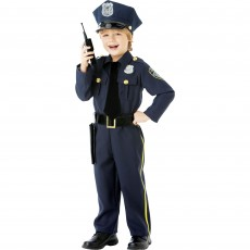 Police Officer Boy Costume - 4-6 Years