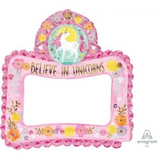 Magical Unicorn Inflatable Frame Foil Balloon