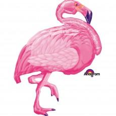 Hawaiian Party Decorations SuperShape XL Flamingo Shaped Balloons
