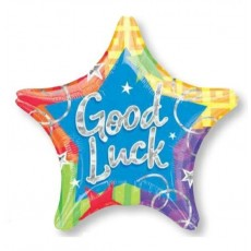 Good Luck Blitz Star Foil Balloon