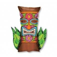 Hawaiian Tiki Time SuperShape XL Foil Balloon