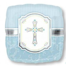 First Communion Blue Standard XL Blessings Shaped Balloon