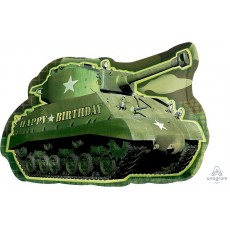 Camouflage SuperShape XL Army Tank Shaped Balloon 66cm x 48cm