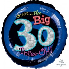 30th Birthday Standard Holographic Foil Balloon