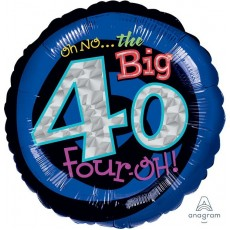 40th Birthday Standard Holographic Foil Balloon