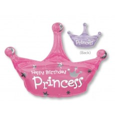Princess Party Decorations - Shaped Balloon SuperShape XL Crown