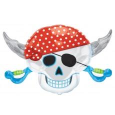 Pirate's Treasure SuperShape Skull Shaped Balloon