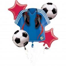 Soccer Bouquet Foil Balloons