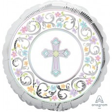 Christening Party Decorations - Foil Balloon Standard XL Blessed Day