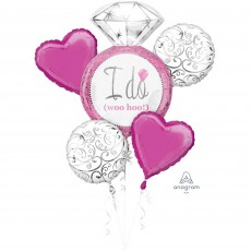 Wedding Bright Pink Bouquet Foil Balloons