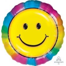 Rainbow Standard Keep on Smilin Foil Balloon