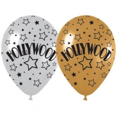 Hollywood Gold & Silver  Latex Balloons