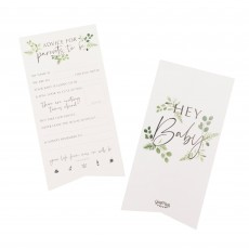 Botanical Baby Advice for the Parents Cards Party Games Pack of 10