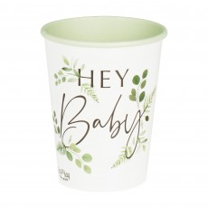 Botanical Baby Hey Baby Paper Cups 266ml Pack of 8