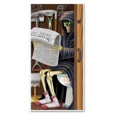Halloween Grim Reaper Restroom Toilet Door Decoration