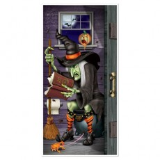 Halloween Witch Restroom Toilet Door Decoration