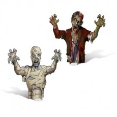 Halloween Party Supplies - Centrepieces - 3D Mummy & Zombie