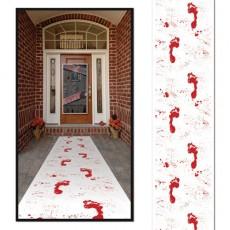 Halloween Bloody Footprints Floor Runner Misc Decoration