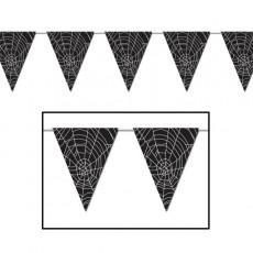 Halloween Spider Web Pennant Banner