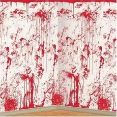 Halloween White Bloody Splatter Backdrop Scene Setter
