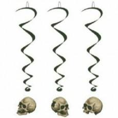 Halloween Skull Whirls Hanging Decorations