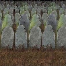 Halloween Graveyard Backdrop Wall Scene Setter