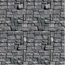 Halloween Stone Wall Backdrop Scene Setter