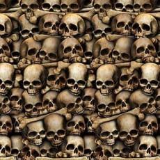 Halloween Catacombs Skulls Backdrop Scene Setter